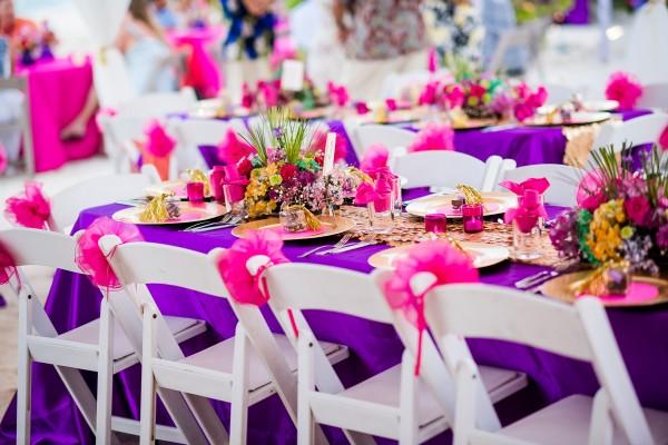 Belize Wedding Reception Decor