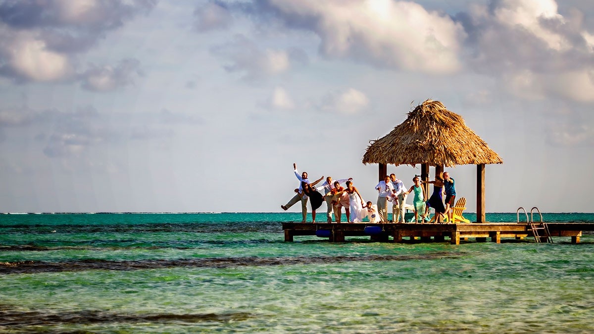 beach wedding in belize xtan ha resort jose luis zapata