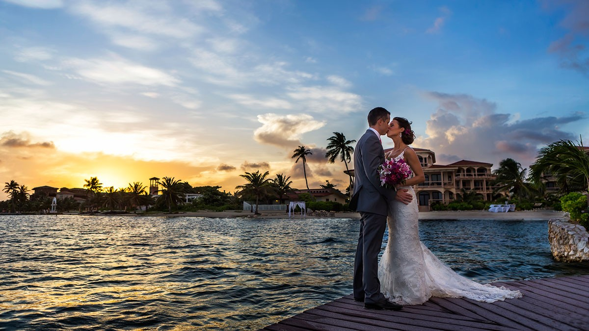 Beach Resort Belize Wedding Leonardo Melendez Coco Jose Luis Zapata